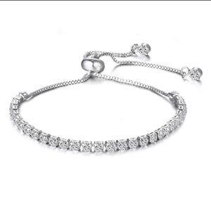 Princess White Swarovski Elements Bracelet
